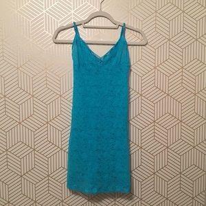 Victoria's Secret Blue lace babydoll chemise/slip. Size Medium.